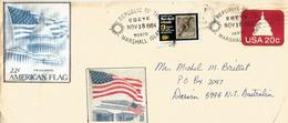 Lettre De Ebeye Island Des îles Marshall De 1984, Adressée En Australie (US Capitol,entier Postal) - Marshall
