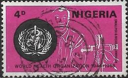 NIGERIA 1968 20th Anniversary Of WHO - 4d Smallpox Vaccination FU - Nigeria (1961-...)