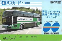 BUS - AUTOBUS - CAR - TRAMWAY -- Carte Prépayée Japon - Cars