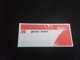 Titre De Transport - LYON - BUS - Busse