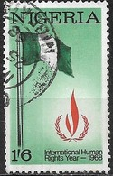 NIGERIA 1968 Human Rights Year - 1s.6d. Nigerian Flag And Human Rights Emblem FU - Nigeria (1961-...)