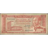 TWN - ETHIOPIA 27a - 10 Ethiopian Dollars 1966 P 577237 G/VG - Etiopia