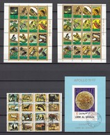 (1) Umm Al-Qaiwain/Umm Al Quwain - 1 Used Block And 3 Mini-small Sheets, From The Year 1972 - See Scan - Umm Al-Qaiwain