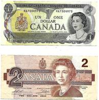 CANADA 2 Billets De 1 Et 2 Dollars TBE - Canada