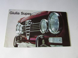 Alfa Romeo, Giulia Super - Auto/Motorrad