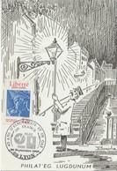 France Cachet Temporaire 40 Ans D'électricité Et De Gaz Lyon 1986 - Storia Postale