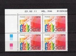 Bloc De 4 Timbres , Coins Datés Du N° 4563 - 2000-2009