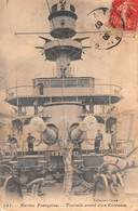 Marine Française - Tourtelle Avant D'un Cuirassé - Marins - Barche