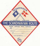 E H  696  / ETIQUETTE  D' HOTEL     SCANDINAVIA  THE SCANDINAVIA ROUTE - Hotel Labels
