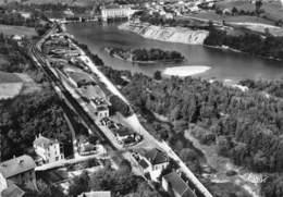 01-SEYSSEL- VUE AERIENNE QUARTIER DE LA GARE LE RHONE AU FOND LE BARRAGE - Seyssel