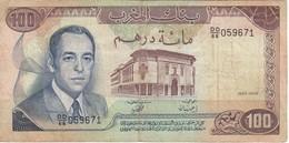BILLETE DE MARRUECOS DE 100 DIRHAMS DEL  AÑO 1985  (BANKNOTE) - Marruecos