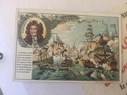 CARTE PUBLICITE SIROP CH. MANSOT / DUQUESNE A LA BATAILLE NAVALE D'AGOSTA (SICILE) En 1676 - Histoire