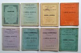Lot De 8 Cahiers D'écolier Manuscrits, 1898, 1899, 1900, 1901, 1902, 1905. Education, Ancien - Libros, Revistas, Cómics