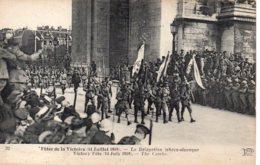Cpa Défilé De La Victoire 14 Juillet 1919,la Délégation Tchècoslovaque. - War 1914-18