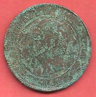10 Centimes , NAPOLEON III Laurée , Bronze , 1862 A , N° F # 134.5 - France