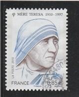 FRANCE 2010 MERE THERESA YT 468 OBLITERE - France