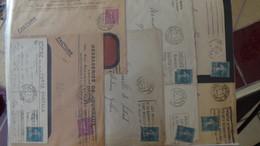 Gros Classeur Rempli De Courriers De Divers Périodes De France. PORT 13.35 EUROS OFFERTS Voir Commentaires - Stamps