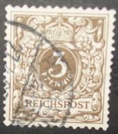 N°849 TIMBRE DEUTSCHES REICH OBLITERE AVEC SIGNATURE - Gebraucht