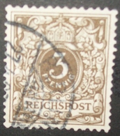 N°849 TIMBRE DEUTSCHES REICH OBLITERE AVEC SIGNATURE - Alemania