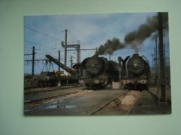 CHEMINS DE FER - TRAIN -- VIERZON - LOCOMOTIVES A VAPEUR... - Treni