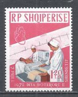 Albania 1972. Scott #1419 (U) World Health Day, Cardiac Patient And Electrocardiogram * - Albanie
