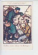 N°736 GEORGES BRUYER 1915 FUSILLIERS-MARINS  SOCIETE DE SECOURS AUX BLESSES MILITAIRES.N° 334 VISE PARIS.CROIX ROUGE - Autres Illustrateurs