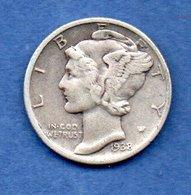 USA -  1 Dime 1938  -  Km # 140  -  état  TB+ - Federal Issues