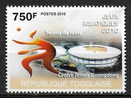 TOGO N° 2285  * *  Jeux Asiatiques 2010 Tennis De Table - Table Tennis