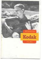 Ancienne POCHETTE Publicitaire  Vide De NEGATIFS PHOTOS KODAK - JEUNE GARCON JOUANT DE LA GUITARE (SCOUT ? ) - Other