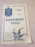 ANCIEN PROGRAMME CARNAVAL DE NICE 1960 - Programs