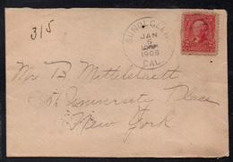 SUNOL GLEN - CALIFORNIA / 1905 LETTRE POUR NEW YORK (ref 7831) - Etats-Unis