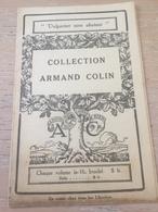 ANCIEN PROGRAMME LIBRAIRIE ARMAND COLIN 1922 - Programs