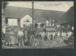 Yonne; La Vie Aux Champs En Bourgogne, Battage Du Blé à La Ferme ,carte Localisée à Pailly - Frankreich