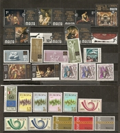 Malta Collection Mint With Many Europa Sets - Sellos