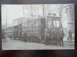 "CPA - Charleroi - Tramway G  - Tram De Gosselies à L'arrêt De La ""Prison"" - Charleroi"
