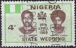 NIGERIA 1969 Wedding Of General Gowon - 4d Yakubu Gowon And Victoria Zakari FU - Nigeria (1961-...)
