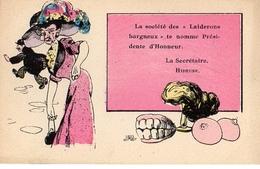Illustrateur J Fardy, Les Sociétés Caricaturales Laiderons Hargneux - Künstlerkarten