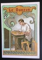 Cambrai Boulangère  Métier Doreur Feuille Or Cadre Chromo Didactique Art Nouveau Vitrail Dorée - Trade Cards