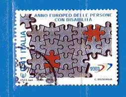 Italia °- Anno 2003 - DISABILITA' . USATO. Unif 2708.  Vedi Descrizione - 1946-.. Republiek