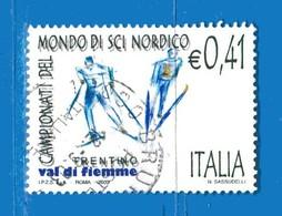 Italia °- Anno 2003 - SCI NORDICO . USATO. Unif 2709.  Vedi Descrizione - 6. 1946-.. Republik