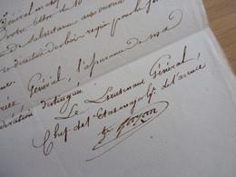 General EMPIRE (1813) Honoré GAZAN (1765-1845) BAYONNE - Saint Jean De Luz. AUTOGRAPHE [ Retraite Espagne Napoleon ] - Autographes