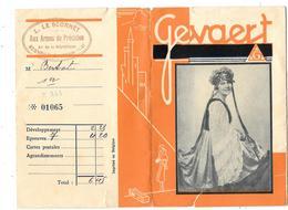 POCHETTE Publicitaire Vide NEGATIFS PHOTOS GEVAERT -10.5 X 15CM - L.LE SCORNET à MEKNES -Aux Armes De Précision -Costume - Photographie