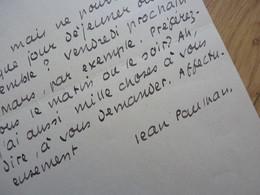 Jean PAULHAN - Autógrafos