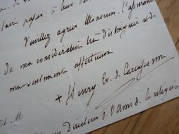 CARDINAL Henri De BONNECHOSE (1800-1883) évêque CARCASSONNE, EVREUX. Archevêque ROUEN. Autographe BISHOP - Autographs