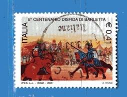 Italia °- Anno 2003 - DISFIDA Di BARLETTA . USATO. Unif 2711.  Vedi Descrizione - 1946-.. Republiek