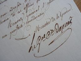 GENERAL Empire. DUPONT De L'ETANG (1765-1840) Commandement PAU (Basses Pyrénées). Ministre LOUIS XVIII. AUTOGRAPH - Autographs