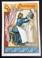 Cambrai Boulangère Métier Couturière Mannequin Robe Empire Ciseaux  Chromo Didactique Art Nouveau Vitrail Dorée - Trade Cards