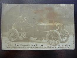 CPA - Léon Théry Sur Voiture Richard-Brasier - Vainqueur De La Coupe Gordon-Bennett 1904 - Sport Automobile