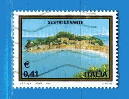 Italia °- Anno 2003 - TURISTICA - SESTRI LEVANTE  USATO. Unif 2718.  Vedi Descrizione - 2001-10: Usados