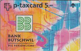 SUISSE - PHONE CARD - TAXCARD-PRIVÉE  *** BANQUE - BÜTSCHWIL *** - Switzerland